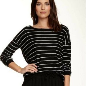 Joie striped sweater black and white long sleeve